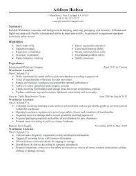 Warehouse Assembler Resume Examples Combined With Job Sample Good Example Of Worker Objective Summary