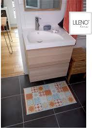 vintage teppichläufer für bad vinyl küchenteppich modern u