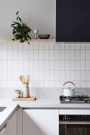 Modern Kitchen White Tile Backsplash