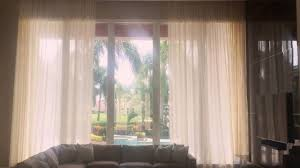 Sheer Curtains For Traverse Rods by Sheer Motorized Pinch Pleat Curtains Youtube