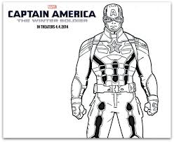 Captain American Coloring Sheets