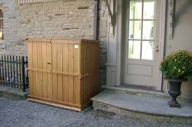 Lawn Garden Gorgeous Wooden Garbage Storage Shed Creative Outdoor ... Backyards Ergonomic Storage For Backyard Room Solutions Bradcarterme Outdoor The Garden And Patio Home Guide Best 25 Shed Storage Solutions Ideas On Pinterest Garage 20 Smart To Keep Tools And Toys Round Top Shelter Jewettcameron Company Lawn Amazoncom Beautiful Bike 47 Remodel Ideas Under Deck For Whebarrel Dump Cart Ect The Diy Yard