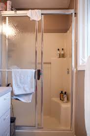 one shower stall ideas fibergl showers that look like tile