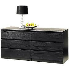 laguna double 6 drawer dresser black wood grain polyvore