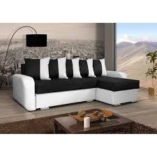 canap noir et blanc canapé convertible calypso noir et blanc achat vente canapé