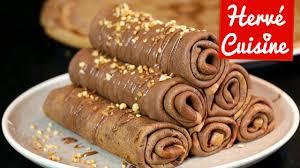 herv cuisine crepes crêpes la recette facile au chocolat version roulée