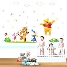 nursery decoration stickers cartoon wall decal baby room wall decor happy the pooh nursery wall baby