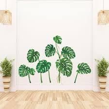 großhandel plam blätter wandtattoo vinyl monstera tropical leaf aufkleber wandbilder für wohnzimmer schlafzimmer veranda dekoration jy9146 3 39