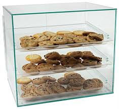 These Pastry Display Cases Are Acrylic So Customers Can See The