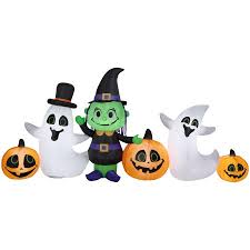 Disney Halloween Airblown Inflatables by Halloween Airblown Inflatable 4 Ft Witch Ghost And Jack O