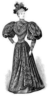 Black And White Clip Art Edwardian Fashion Vintage Dress Clipart Victorian Lady
