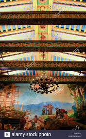 the mural room inside the santa barbara county courthouse building