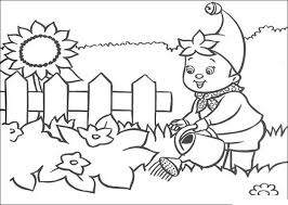 Gardening Coloring Pages Noddy And Plants