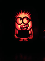 Minion Carved Pumpkins by Minion Stencil From Zombie Pumpkins Pumpkin Carving