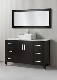 46 Inch Double Sink Bathroom Vanity by 55 Inch Single Vessel Sink Espresso Vanity Set
