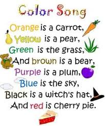 Color Song Poem To The Tune Of Baa Black Sheep