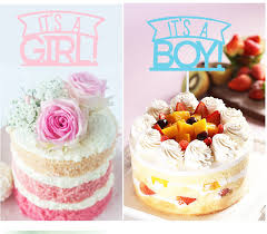 Kids Happy Birthday Cupcake Cake Toppers Cakes Flags Its A Girl & Boy Baby Shower Birthday
