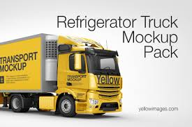 100 Refrigerator For Truck HQ Mockup Pack In Handpicked Sets Of Vehicles On