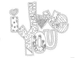I Love You Coloring Pages Printable Free