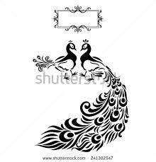 Drawn Peacock Silhouette 3