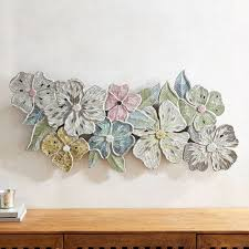 Mosaic Sculpted Flowers Wall Panel