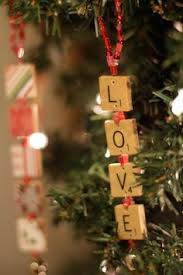Scrabble ornaments fun & easy to make Maybe make a PEACE one for