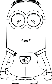 Minions Perfect Coloring Page More Pages Bob Games Full Size