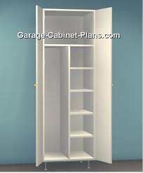 Free Closet Organizer Plans by Utility Cabinet Plans 24 Inch Broom Closet Decorating Ideas