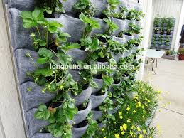 Wall Hanging Flower Pots Outdoor Wall Planters Flora Felt Living