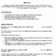Bartender Resume Description Best Of Bartender Resume Skills Lovely