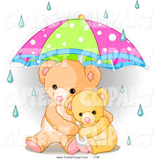 Vector Clip Art Of A Cute Baby Teddy Bear Cuddling With Its Mother
