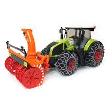 100 Snow Blowers For Trucks 116th Claas Axion 950 Tractor W Blower Tire Chains By Bruder