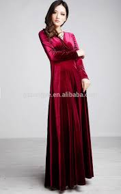 Fashion Long Sleeve Maxi Dress 2014 Royal Blue Velvet