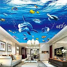fototapeten 3d tapete unterwasserwelt delphin decken design