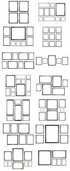 wand collage wohnzimmer foto arrangement 18 ideen