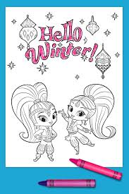 Free Printable Coloring Pages Birthday Cake Page Cards Birthdays Shimmer Shine Winter Full Size