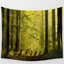Vintage Forest Tree Hanging Wall Hippie Tapestry Home Decor Yoga
