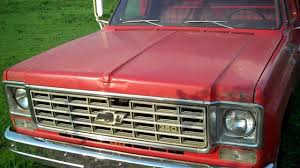 100 75 Chevy Truck Cold Start 19 C30 Dump YouTube