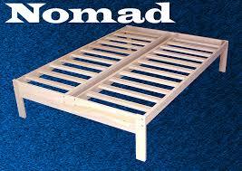 nomad platform bed frame world of futons