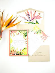Tropical Themed Wedding Invitations Sea