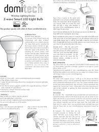 zbr30dl z wave light bulb user manual zbr30dl manual domitech
