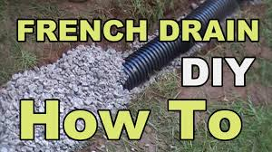 Perforated Drain Tile Sizes by Diy French Drain Project Youtube