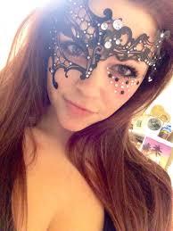 Halloween Half Mask Makeup by Black