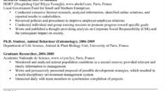 As400 Administrator Sample Resume Prepossessing Zoology Examples Researcher Cv Pinterest