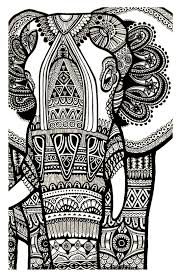 Free Coloring Page «coloriageelephantgratuitadulte» Doodling