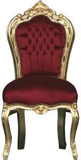 barock esszimmer stuhl bordeaux rot gold ludwig xiv stuhl