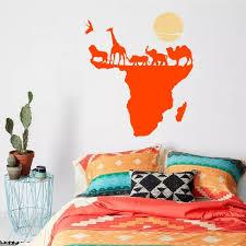 kunst wand aufkleber natur tier welt karte afrika wohnkultur wand aufkleber wohnzimmer schlafzimmer dekoration wandbild w 57