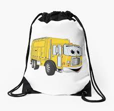 Yellow Cartoon Garbage Truck