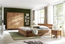 schlafzimmer komplett schrank bett nachtkommode einrichtung kernbuche massiv lanatura