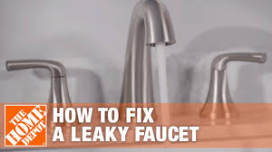 How To Repair A Leaky Kitchen Faucet How To Fix A Leaky Faucet The Home Depot